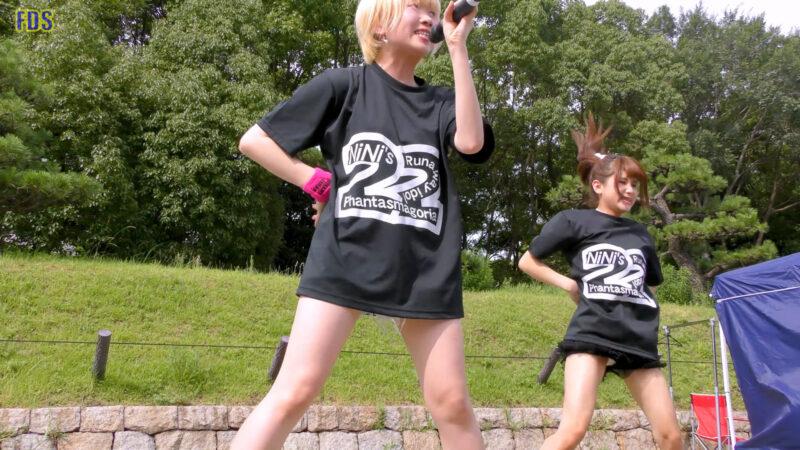 [4K] 自らお腹チラ見せするアイドル 「C.P.U !?」「PPCC」 城天 Japanese idol group 01:29