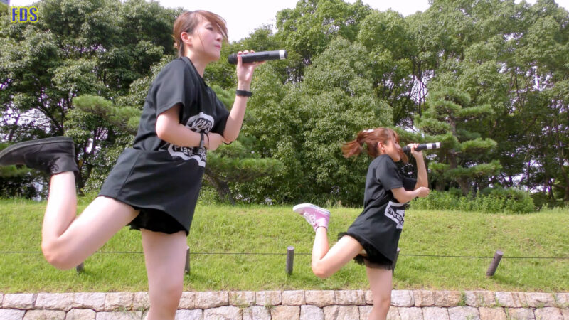[4K] 自らお腹チラ見せするアイドル 「C.P.U !?」「PPCC」 城天 Japanese idol group 02:23