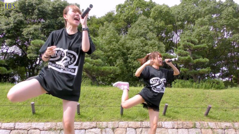 [4K] 自らお腹チラ見せするアイドル 「C.P.U !?」「PPCC」 城天 Japanese idol group 02:24