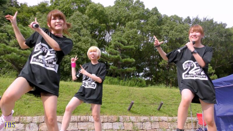 [4K] 自らお腹チラ見せするアイドル 「C.P.U !?」「PPCC」 城天 Japanese idol group 05:55