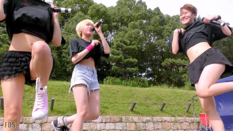 [4K] 自らお腹チラ見せするアイドル 「C.P.U !?」「PPCC」 城天 Japanese idol group 06:12