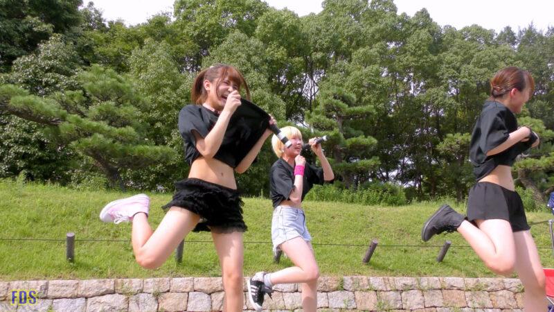 [4K] 自らお腹チラ見せするアイドル 「C.P.U !?」「PPCC」 城天 Japanese idol group 06:19
