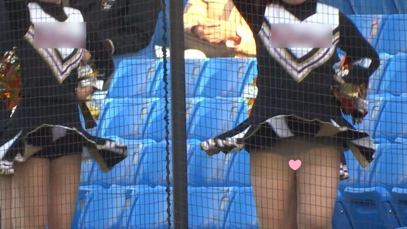 なにわガールズ412 ノーパン演技疑惑 DE チア史上No.1映像誕生や!