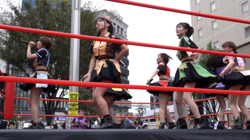 "【4K/a7Rⅲ】いちぜん!(Japanese idol group ""Ichizen!"")高円寺フェス2019 北口広場 2019年10月26日(土) 11:12"