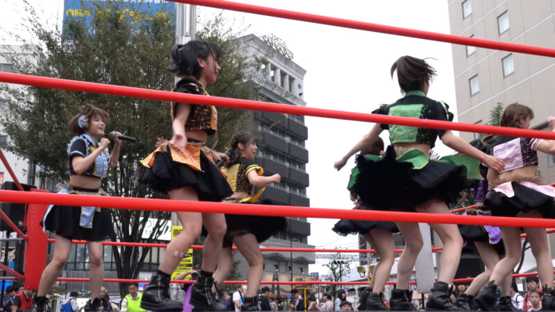 "【4K/a7Rⅲ】いちぜん!(Japanese idol group ""Ichizen!"")高円寺フェス2019 北口広場 2019年10月26日(土) 11:59"