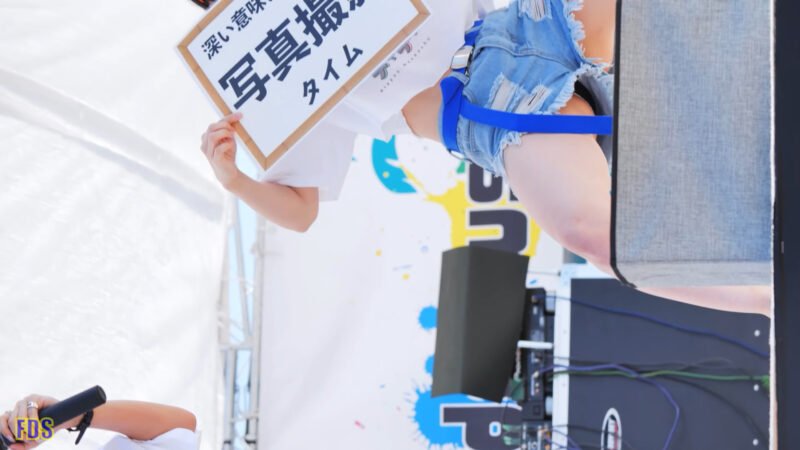 [4K] にっぽんワチャチャ 「深い意味はないけどバナナが好き」 アイドル ビーチ ライブ Japanese idol group 02:59