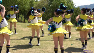 常磐大学高等学校チアダンス部2部10曲目『GO!!!』@工芸の丘クラフトギャザリング(笠間陶炎祭) 2019/05/04 01:05