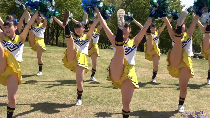 常磐大学高等学校チアダンス部2部10曲目『GO!!!』@工芸の丘クラフトギャザリング(笠間陶炎祭) 2019/05/04 01:10